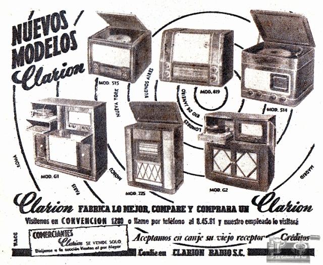 ad_Clarion_radios_Supl_El_Dia_1953