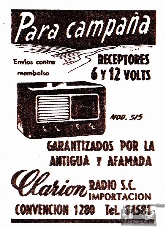 ad_Clarion_radios_Supl_El_Dia_1954