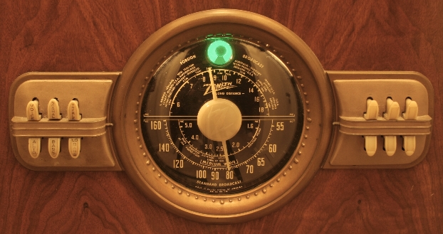 Zenith Console Radio Dial